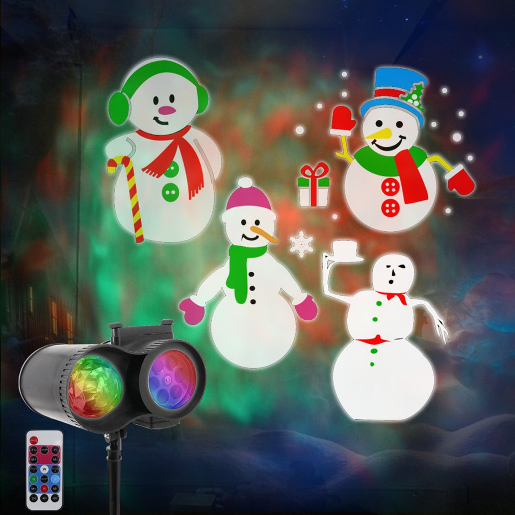 Christmas Projector Lamp Watermark Lamp Waterproof LED Projector Lamp Christmas Halloween Party Light Drop Shipping Sale
