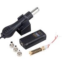 JCD-pistola de aire caliente 8858, microestación de soldadura de reprocesado, secador de pelo Digital LED para soldar, pistola de calor de 700W, herramientas de reparación de soldadura