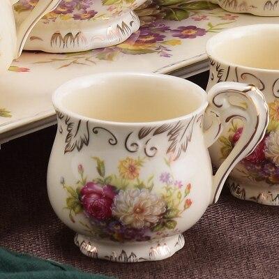 200 мл Афины керамическая кофейная чашка блюдце набор капучино кофе фарфоровая чашка блюдо послеобеденный чай чашка изысканный подарок - Цвет: 10 Style