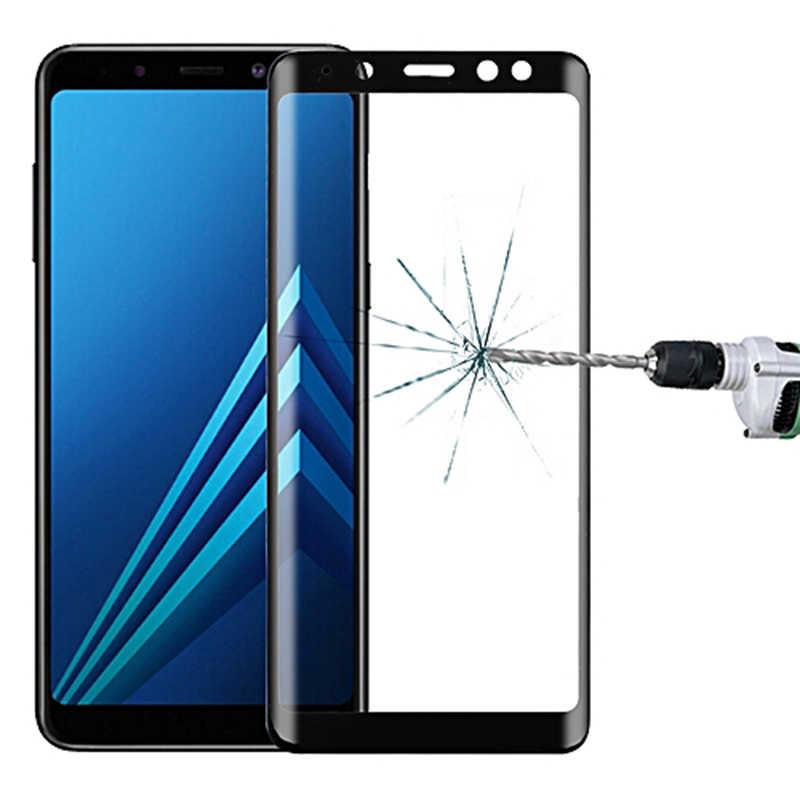 9D מגן זכוכית על לסמסונג גלקסי A6 A8 J4 J6 בתוספת 2018 J2 J8 A7 A9 2018 מזג זכוכית מסך מגן סרט מקרה