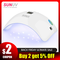 SUNUV SUN8 UV lámpara LED de uñas 48W secador de Gel de uñas 30s 60s temporizador 90s modo de bajo calor curado UV LED geles esmalte de uñas herramientas de arte