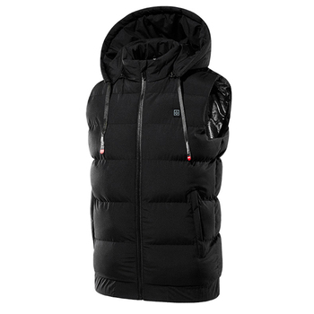 Unisex 9 Places Heating Hooded Jackets Electric USB Heated Vest Heating Jackets Heat Coat Thermal Clothing Coat Winter Warm 7