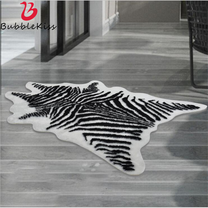 Bubble Kiss Acrylic Modern Design Zebra Fluffy <font><b>Rugs</b></font> Creative Animal Imitation <font><b>Leather</b></font> Fur <font><b>Rug</b></font> and Carpets for Bedroom Home Decor image
