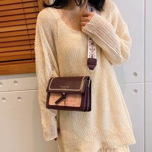 Image 5 - Contraste cor couro crossbody sacos para as mulheres 2020 bolsa de viagem moda simples ombro saco do mensageiro senhoras cruz corpo saco