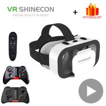 VR Shinecon G05A kask okulary 3D wirtualna rzeczywistość dla iPhone smartfon z androidem inteligentny telefon gogle Casque Len luneta do gier tanie tanio Brak Smartfony Lornetka Wciągające Virtual Reality Kontrolery Zestawy Pakiet 1 Virtual reality glasses for mobile games vr set