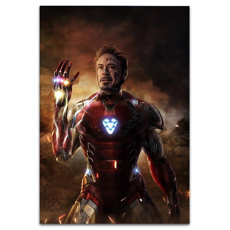 Мстители эндшпиль я Железный человек супергерой холст живопись плакаты и принты спальня квартира картины художественный Декор для гостиной - Цвет: Picture K