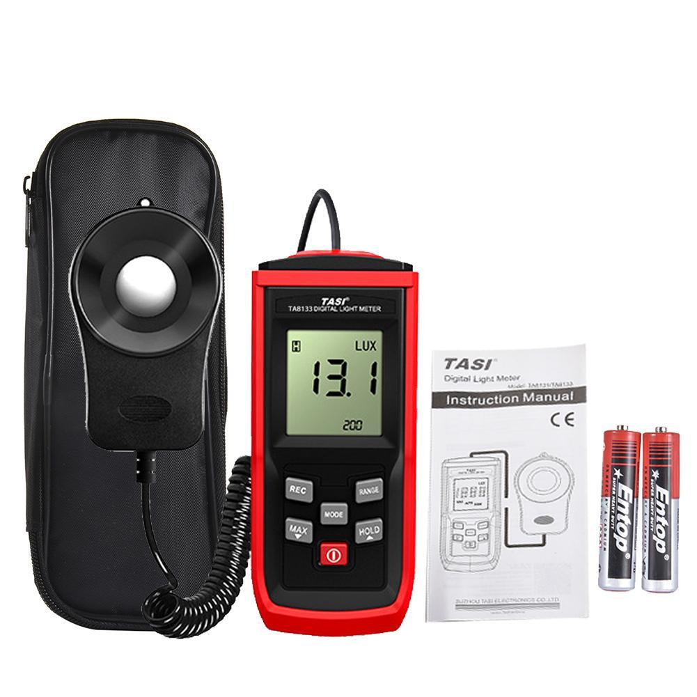 Цифровой измеритель люкс Сплит Тип 50 хранения данных фотометр измерительный инструмент с широким диапазоном измерения - Цвет: Red