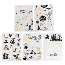 5pcs Stickers Halloween Elements Decals for Scrapbook Crafting Laptop Cellphone Children's Temporary Tattoos(China)