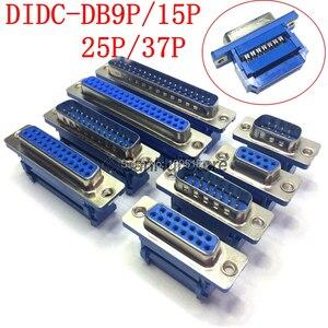 2 шт. D-SUB DIDC 9 15 25 Pin DB9 DB15 DB25 DB37 мужской женский головная линия прессования типа разъем D SUB DIDC-9P 15P 25 P 37P разъем