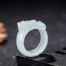 Hot Sell Natural Natural Emerald Pixiu Ring Jade Charm Jewellery Fashion Accessories Hand-Carved Man Ahd Woman Luck Amulet Gifts(China)