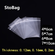 100pcs Thick Transparent Small Zip Lock Plastic Bags Buttons Screws Electronic