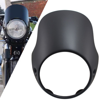 "7"" Motorcycle Headlight Fairing Cover Deflector Visor Windshield Protective For Triumph Bonneville T100 T12 Thunderbird Sport"