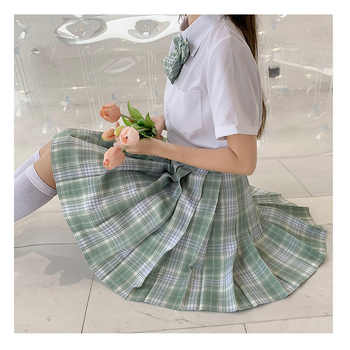 Japanese School Uniforms Green Skirts Girl\'s Dresses JK Suits Bowknot Shirt Female Sailor Costumes Dress Clothes for Women