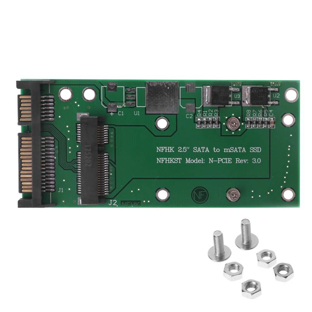Converter Adapter Durable 50mm Small Board MSATA SSD To 2.5