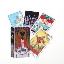 Baralho moderno de tarô bruxa, cartão guia, jogo de mesa, cartão mágico, destino, adivinhação