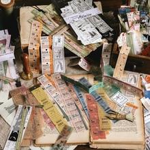 30 unids/bolsa Vintage Atlas regla tickets animales washi pegatina de papel para decoración pegatinas DIY álbum de recortes diario etiqueta adhesiva