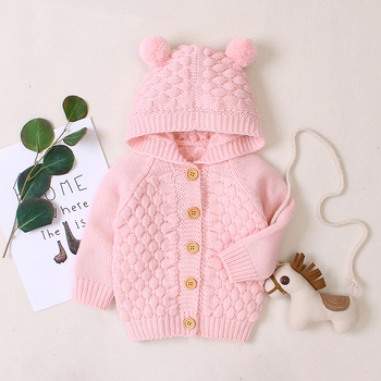 LZH 2020 Autumn Infant Hooded Knitting Jacket For Baby Clothes Newborn Coat For Baby Boys Girl Jacket Winter Kids Outerwear Coat 10