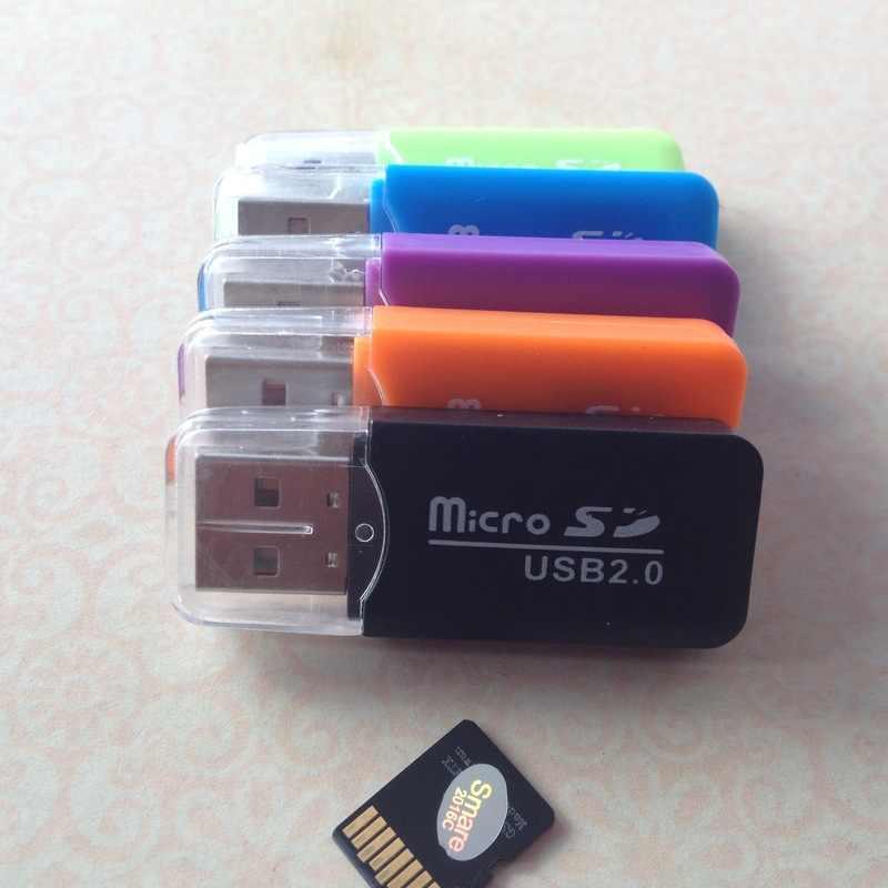 عالية السرعة البسيطة USB 2.0 مايكرو SD TF T-فلاش ذاكرة محوّل قارئ البطاقات للكمبيوتر محمول قارئ بطاقة USB