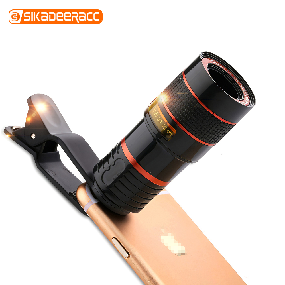 8X Optical Telephoto Telescope External Smartphone Camera Lens HD Clip Magnifier Cell Mobile Lens Universal For Huawei P20 P30 image