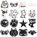 Нашивки для одежды с вышитым рисунком кота из аниме, Аппликации, термонаклейки на одежду, утюжок на пластыри, переводит детей