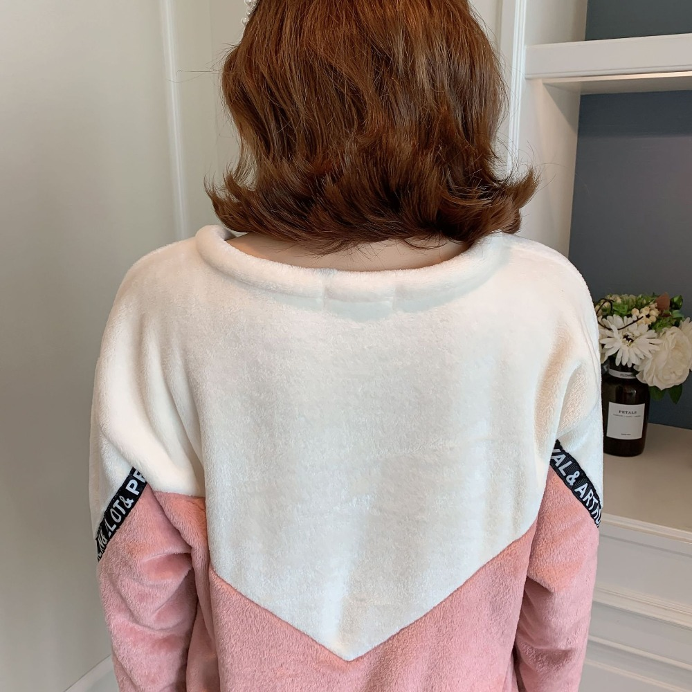 Betyline 2019 New Winter Pajamas For Women Sleepwear Warm Flannel Long Sleeves Pajamas Cute Animal Homewear Thick Homewear 136