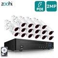Zoohi 1080P 16CH Outdoor CCTV Kamera Sicherheit System Kit Video Überwachung Kit Sicherheit Kamera System POE Kamera System IP66