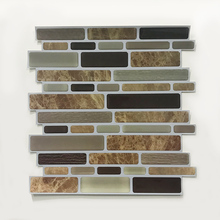 Stone baffle self-adhesive  mixed 3D effect tile sticker kitchen bathroom furniture decorative vinyl color wall