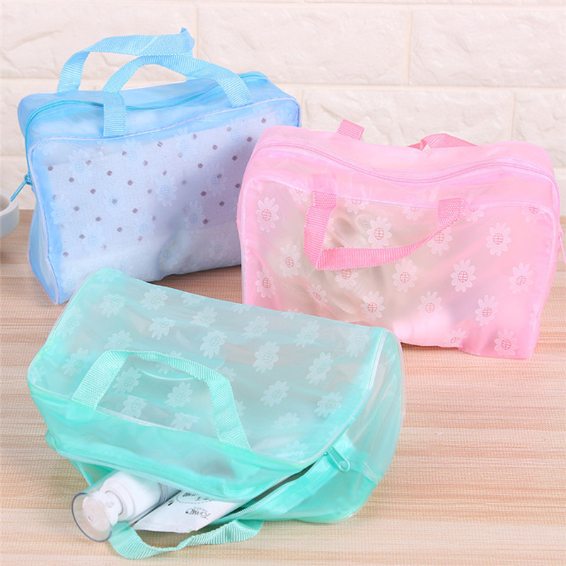 VOGVIGO Women Travel Transparent Cosmetic Bag Zipper Trunk Makeup Cases Organizer New Home Storage Pouch Toiletry Wash Hand Bags