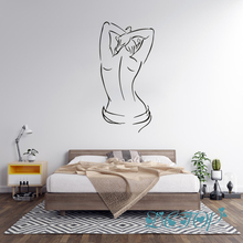 Naked Woman Vinyl Wall Decal Adult Room Decor Sexy Girl Stickers Mural Living Room Bedroom Bathroom Home Decor Art Wallpapers