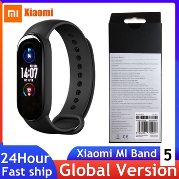 In Stock Xiaomi Mi Band 5 Smart Bracelet Color AMOLED Screen Mi Band5 Global Wristband Fitness Tracker Remote Control Heart Rate