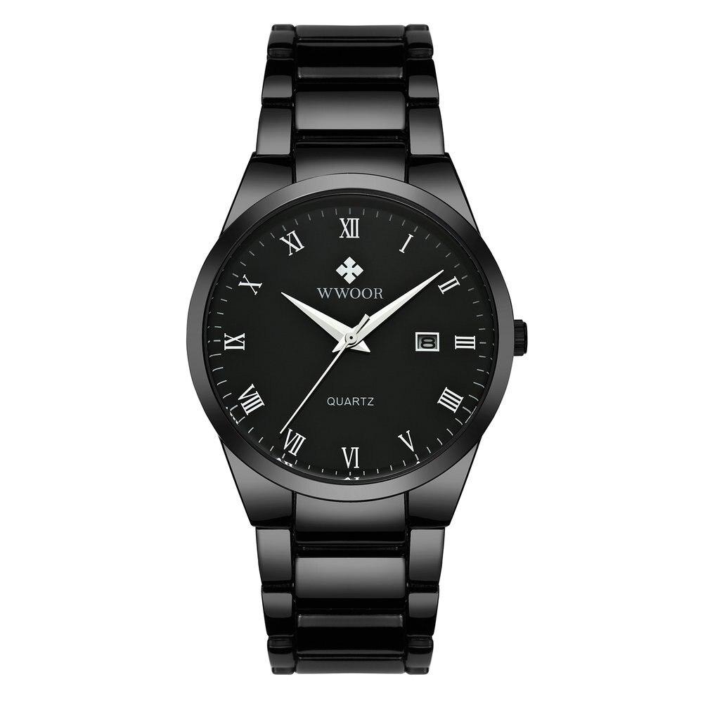 2017 Fashion Men Luxury Stainless Steel Waterproof Sports Watches Men's Quartz Analog Clock Solid Strap Wrist Watch 8830