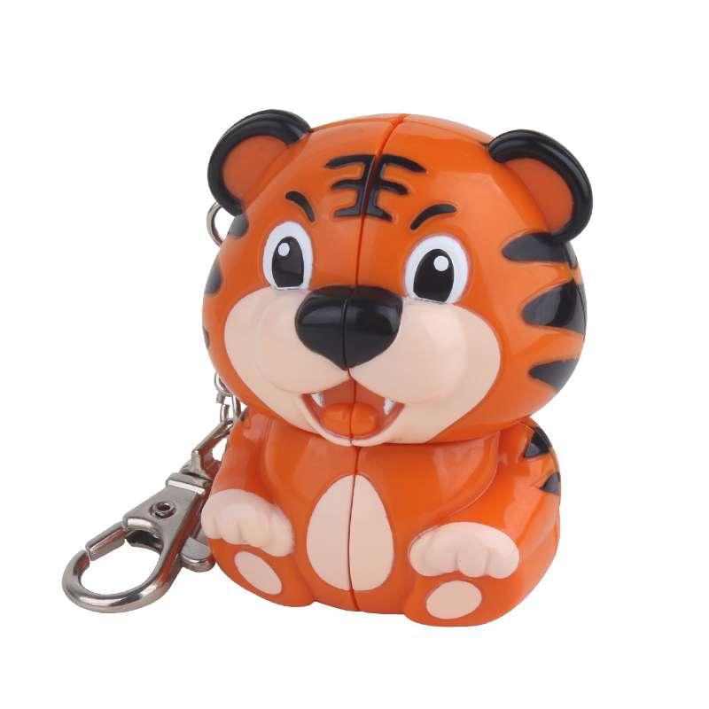 New Yuxin Zhisheng 2x2 Mini Tiger Keychain Magic Cube Puzzle 2x2x2 Cubo Magico Professional Educational Toys King Of The Jungle