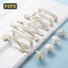 FCFC Lvory White Handle Drawer Closet Gold Handle Cabinet Door Cabinet European Invisible Door Handle Modern Pulls Hole Konb hot 10pcs stainless steel recessed invisible cup handle privacy hidden door locks cabinet pulls handle fire proof disk ring lock