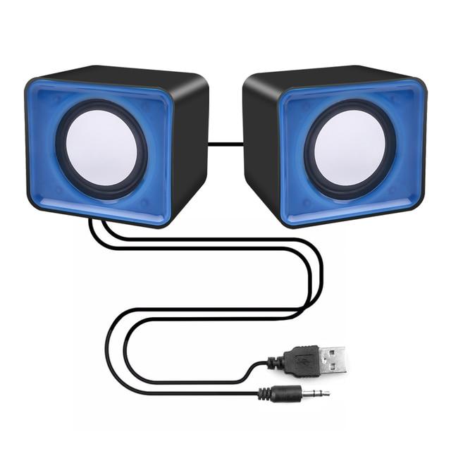 kebidu Universal USB 2.0 Music Speaker Mini Music Stereo Speakers 3.5mm Pulg For Multimedia Desktop Computer Notebook 6