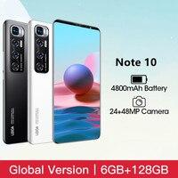 Xiomi Cellulare Radmi Note 10 Smart Phone Android 6GB RAM 128GB ROM telefono 4800mAh batteria 6.1 pollici 4G versione globale telefono cellulare