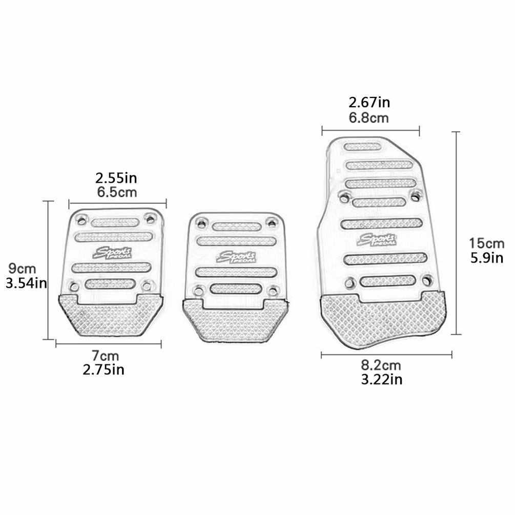 Opp torba alüminyum manuel şanzıman araba kaymaz pedalı manuel araba fren debriyaj hızlandırıcı alaşım Antiskid ayak Pedal
