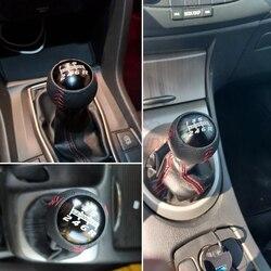 Ручка переключения передач для гоночных автомобилей, из кожи и алюминия, M10X1.5, красная/черная, для Honda EK9 EP3 FN2 DC2 DC5 S2000 FD2