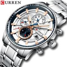 Новые Брендовые мужские часы curren кварцевые с хронографом