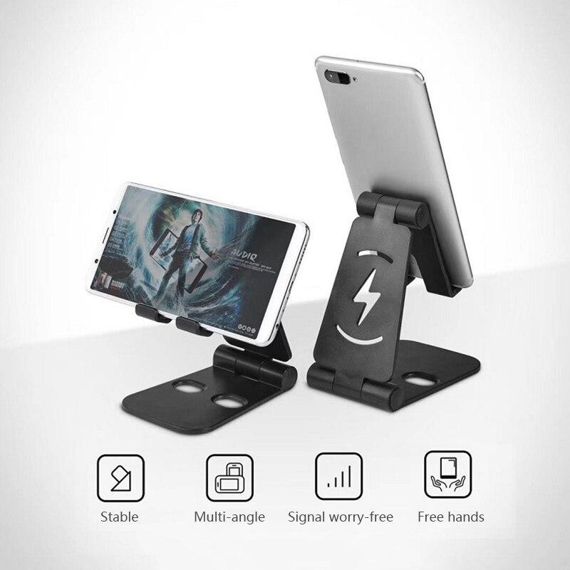 2021 новый телефон подставка держатель для IPhone 11 Xiaomi Mi 9 металлический складной держатель для телефона мобильный телефон подставка Настольны...