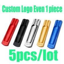5 Pieces Custom Logo Cigar Ashtray Single Slot Cigarette Ash Tray Portable Tobacco Smoking Accessories Tools For Cohiba Home Use