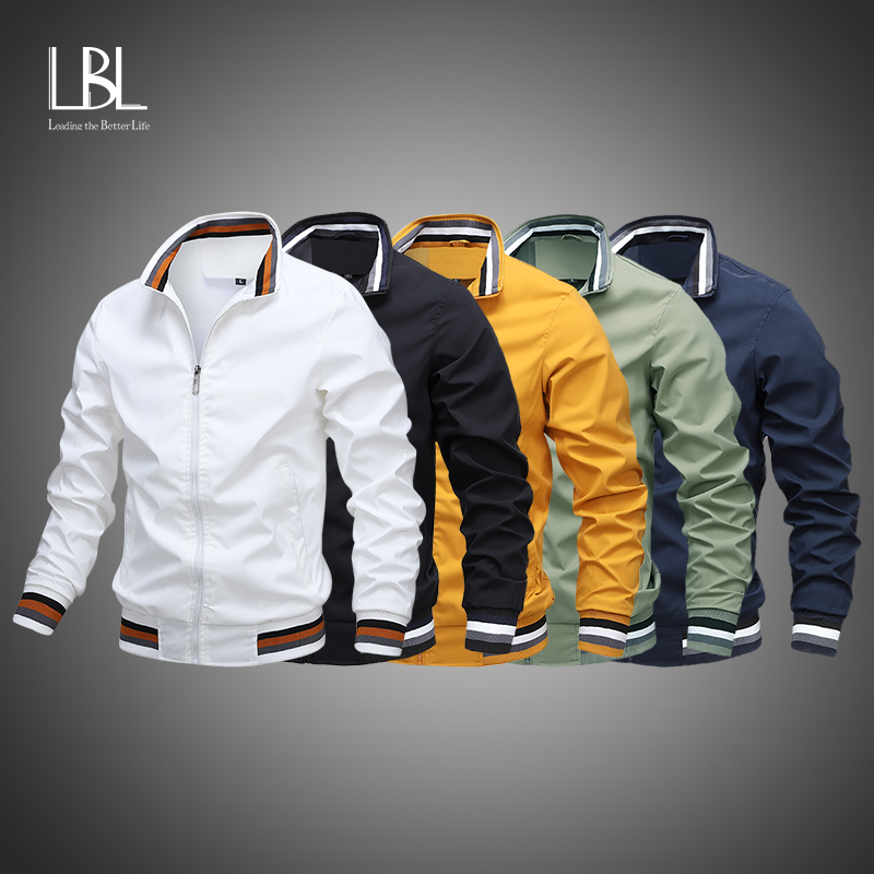 Chaqueta militar para hombre, chaqueta de piloto, chaqueta informal con cremallera, cazadora de vuelo de carga, para primavera y otoño, 2021