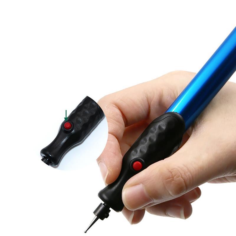 Aibecy Micro grabador el/éctrico Pluma Mini m/áquina grabadora Inal/ámbrico DIY Talla herramientas Kit de Graver con punta de diamante adicional Reemplazo para DIY Joyer/ía Metal Vidrio Madera etc.