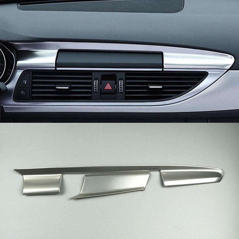 Автомобильная Центральная панель навигационной панели, Обшивка салона, цветная наклейка из углеродного волокна для Audi A6 C7 A7 2012-2018, автомоби...
