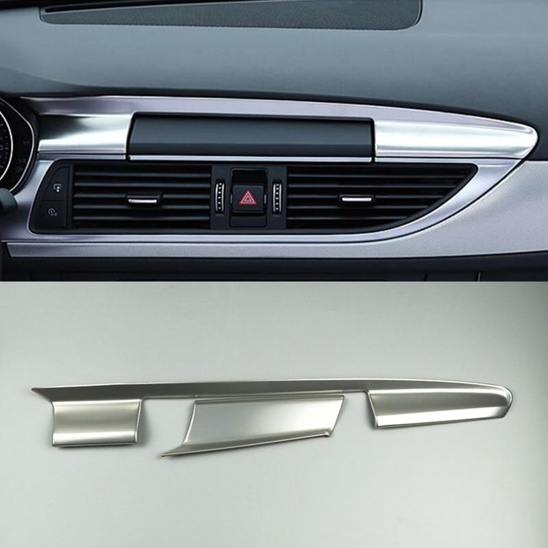 console central do carro painel de navegacao capa guarnicao interior fibra de carbono cor adesivo para