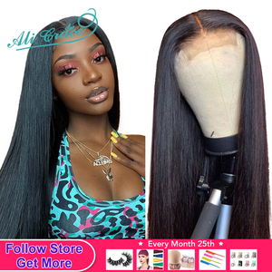 Ali Grace Straight Lace Closure Wigs 6x6 Closure Wig Human Hair Wigs With Baby Hair 4x4 Brazilian Lace Front Human Hair Wigs(China)