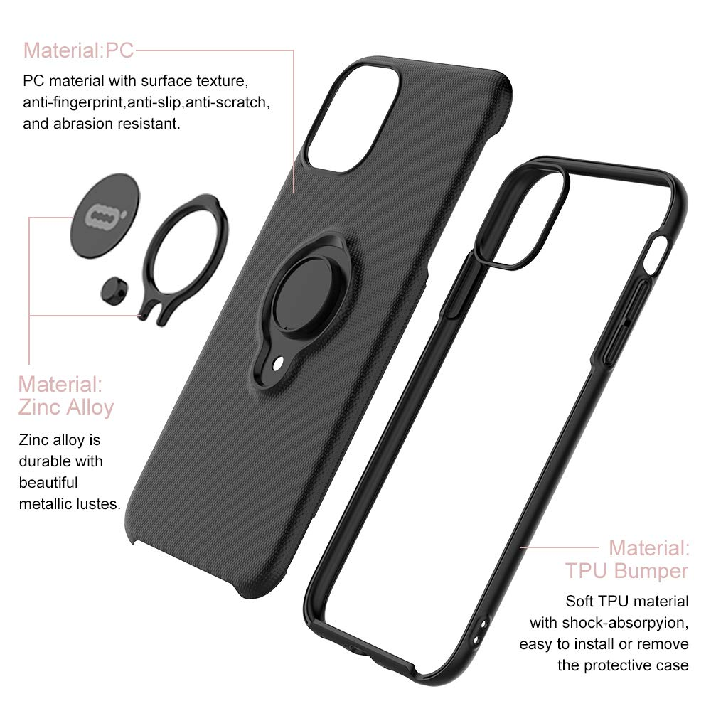 Image 4 - iconflang For iPhone 11 Pro Max Case Car Holder Stand Magnetic Bracket Hard PC Cover Case For iPhone 11 Pro Funda Coque CapaFitted Cases   -