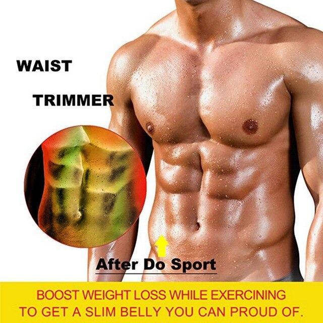 Men Body Shaper Waist Trainer Brace Gym Belt Tummy Trimmer Sport Sweat Vest Slimming Cincher Fitness Shapewear Weight Loss 3