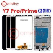 Comebuy สำหรับ HUAWEI Y7 PRIME 2018 จอแสดงผล LCD LDN L21 LND L22 L21 L29 หน้าจอสัมผัสสำหรับ Huawei Y7 2018 จอแสดงผลกรอบ