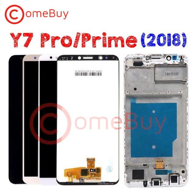 Comebuy ディスプレイ huawei 社 Y7 プライム 2018 lcd ディスプレイ LDN L21 lnd L22 L21 L29 huawei 社 Y7 2018 ディスプレイフレーム