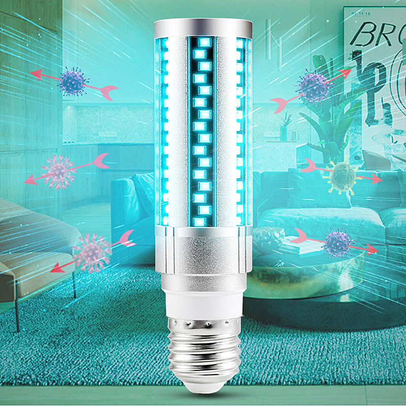 UVC LED Bulb E27 UV LED Lamp 15W 20W Desinfection Light LED Corn Bulb 220V Ultraviolet Light Bactericidal Sterilization Lamp